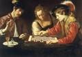 Caravaggio Scuola - I giocatori di scacchi